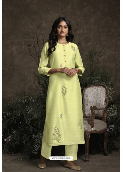 Lemon Berry Silk Designer Kurti