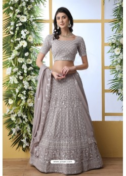 Grey Thread Embroidered Designer Lehenga Choli