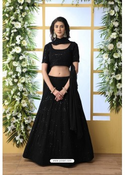 Black Thread Embroidered Designer Lehenga Choli