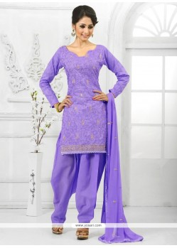 Lavender Cotton Salwar Suit