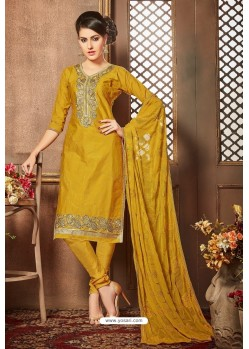 Marigold Glazz Cotton Churidar Suit