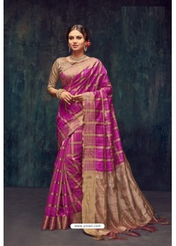 Rani Silk Printed Saree