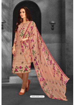 Light Beige Pure Pashmina Churidar Suit
