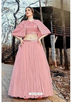 Baby Pink Imported Fabric Fancy Worked Designer Lehenga Choli
