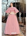 Baby Pink Imported Fabric Fancy Worked Designer Lehenga Choli