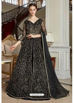 Black Net Designer Party Wear Gown