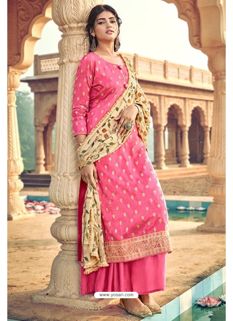 Rani Pure Dolla Silk Jacquard Palazzo Suit