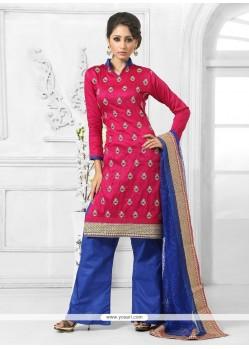Bedazzling Hot Pink Designer Palazzo Salwar Suit