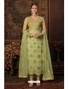 Green Net Designer Straight Suit
