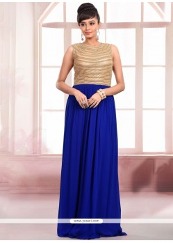 Aesthetic Faux Georgette Floor Length Gown