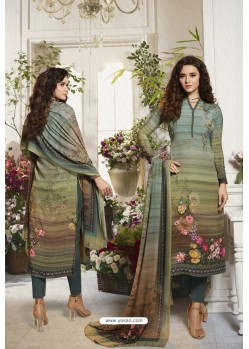 Gorgeous Multi Colour Sorer Digital Printed Crepe Straight Suit