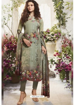Mehendi Sorer Digital Printed Crepe Straight Suit