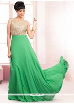 Impeccable Sequins Work Floor Length Gown