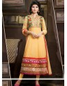 Excellent Cream Georgette Anarkali Salwar Suit