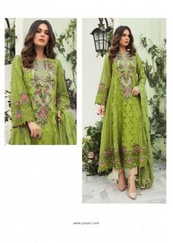 Green Georgette Designer Straight Suit