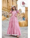Pink Pure Maslin Digital Printed Gown