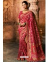 Rani Dola Silk Embroidered Designer Saree