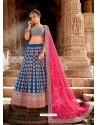 Teal Blue Handloom Silk Designer Lehenga Choli