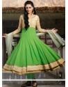 Competent Green Georgette Anarkali Salwar Kameez