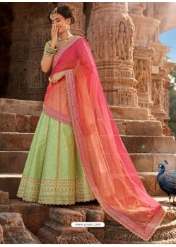 Sea Green Handloom Silk Designer Lehenga Choli
