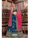 Peacock Blue Handloom Silk Designer Lehenga Choli