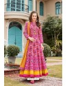 Hot Pink Heavy Pure Killer Silk Anarkali Suit