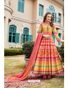 Multi Colour Heavy Pure Killer Silk Anarkali Suit