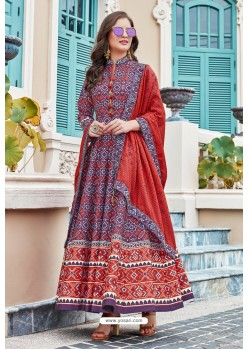 Blue Heavy Pure Killer Silk Anarkali Suit