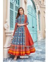 Sky Blue Heavy Pure Killer Silk Anarkali Suit