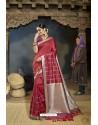 Maroon Designer Banarasi Silk Saree