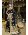 Black Designer Banarasi Silk Saree
