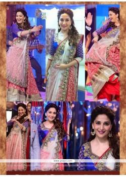 Madhuri Dixit Zari Work Hot Pink Designer Lehenga Choli