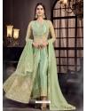 Green Soft Net Embroidered Anarkali Suit