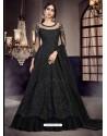 Black Soft Net Embroidered Anarkali Suit