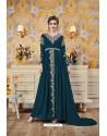Teal Blue Party Wear Georgette Designer Gown