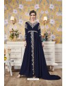 Navy Blue Party Wear Georgette Designer Gown