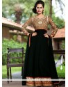 Bedazzling Black Zari Georgette Anarkali Suits