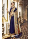 Purple Banarasi Silk Designer Saree