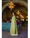 Sea Green Designer Multi Slub Soft Silk Saree