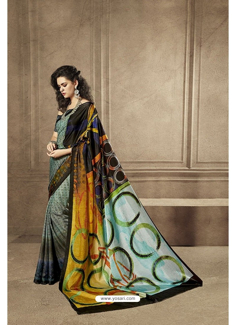 Eyeful Multi Colour Designer Digital Printed Saree
