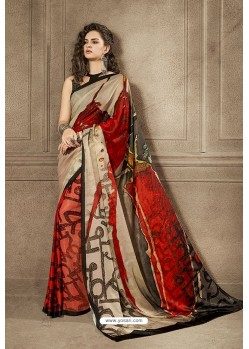 Magical Multi Colour Designer Digital Printed Saree