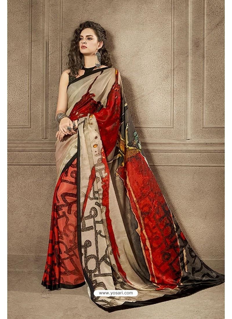 Magical Multi Colour Designer Digital Printed Saree