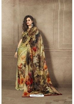 Stylish Multi Colour Designer Digital Printed Saree