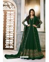Dark Green Faux Georgette Party Wear Anarkali Suit