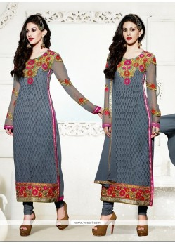 Jazzy Embroidered Work Churidar Designer Suit
