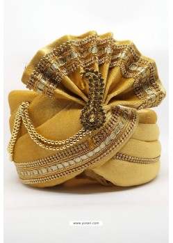 Cream Velvet Wedding Turban