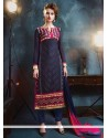 Staring Lace Work Georgette Salwar Suit