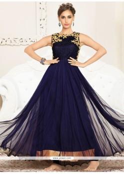 Simplistic Resham Work Net Anarkali Salwar Suit