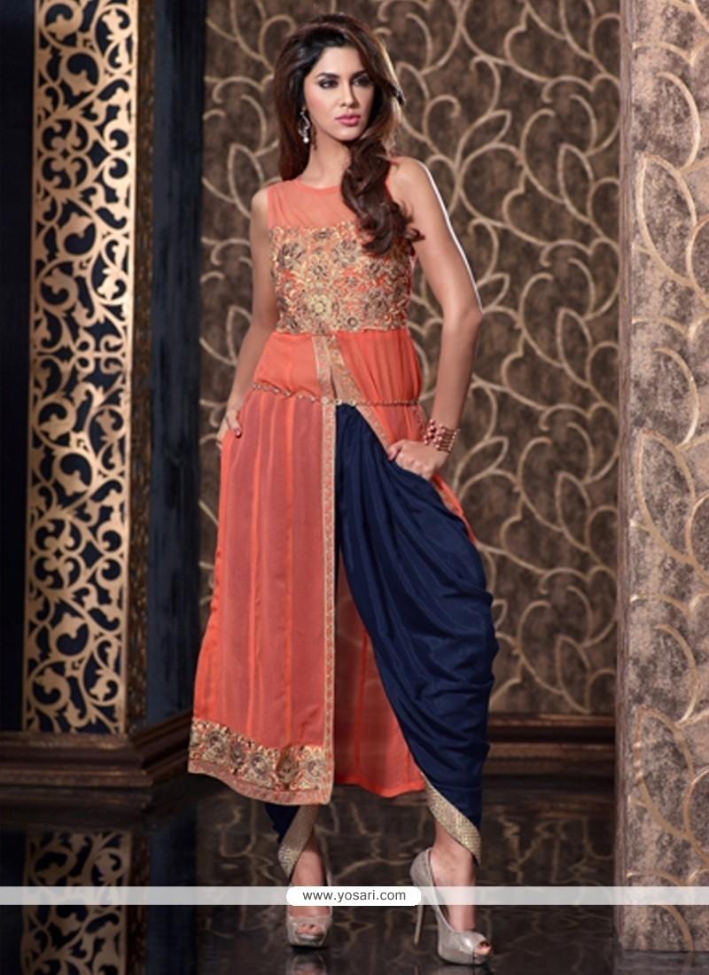 Lustrous Zari Work Designer Patiala Salwar Kameez