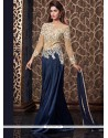 Praiseworthy Navy Blue Floor Length Anarkali Suit